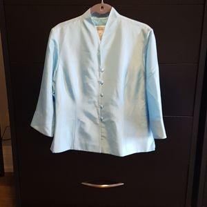 🎆Jessica Howard Vintage Silk Jacket